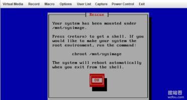 提示你系统挂载在/mnt/sysimage下