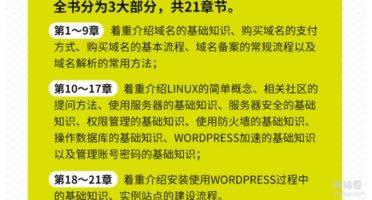 零基础学WordPress主要内容