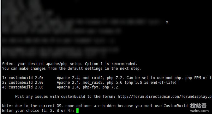 DirectAdmin安装选项