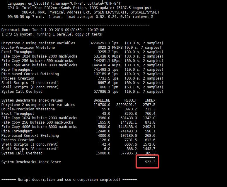 Gcore VPS整体性能