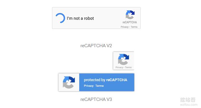 reCAPTCHA不同版本