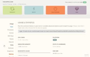 CloudCone美国CN2 VPS管理面板