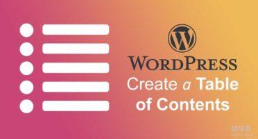 Wordpress文章目录侧边栏固定滚动-Easy Table 和LuckyWP Table插件
