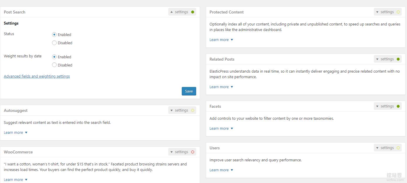 WP整合Elasticsearch自动索引