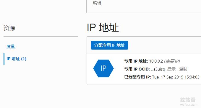 Oracle VPS主机看到具体IP