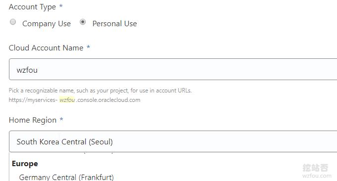 Oracle Cloud甲骨文选择区域