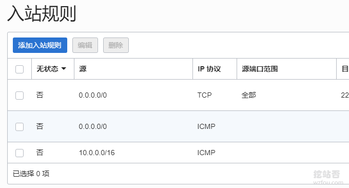 Oracle Cloud甲骨文入站规则