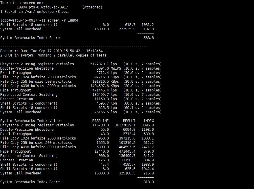 Oracle Cloud甲骨文性能跑分