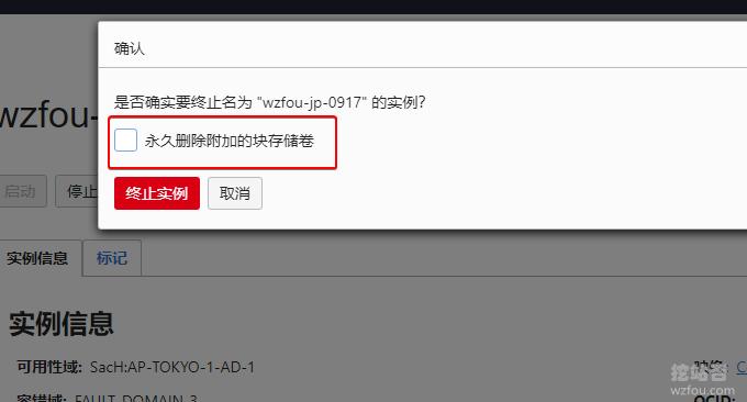 Oracle VPS主机删除硬盘存储