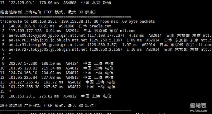 Oracle Cloud甲骨文联通回程
