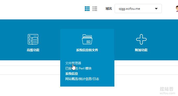 DirectAdmin点击选择文件管理器