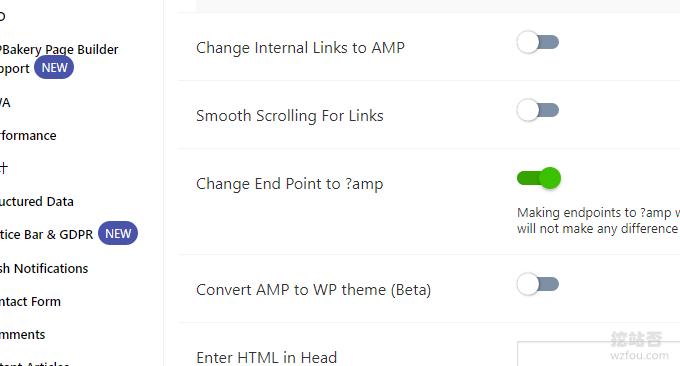 AMP for WP设置URL格式