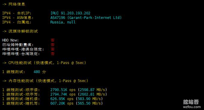 INVS.ru VPS流媒体测试