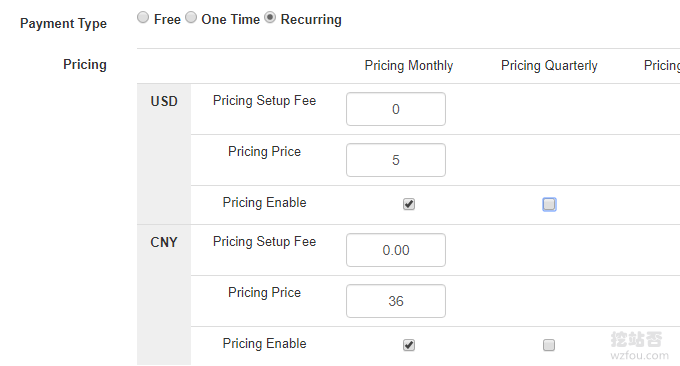 WHMCS整合Vultr设置价格