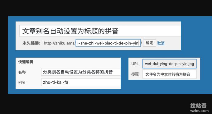 Wordpress自动采集和发布自动转换网址