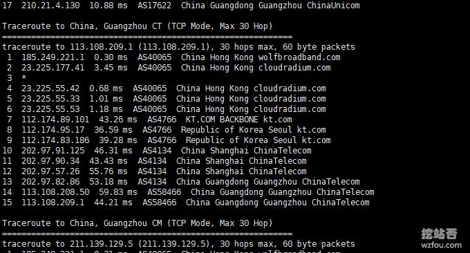 OranMe香港VPS主机电信回程
