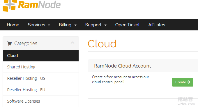 RamNode VPS开通云账号