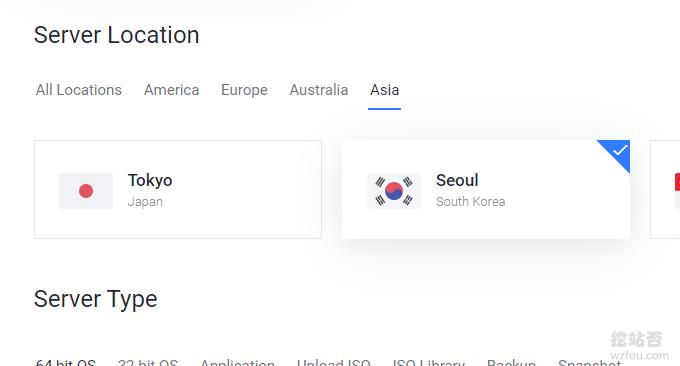 Vultr韩国VPS主机选择机房