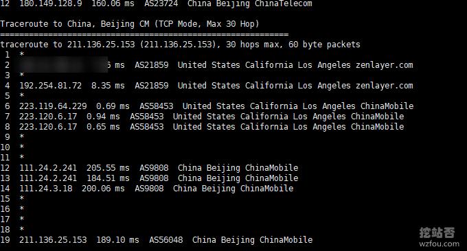 QYFOU美国CN2 GIA VPS移动回程线路