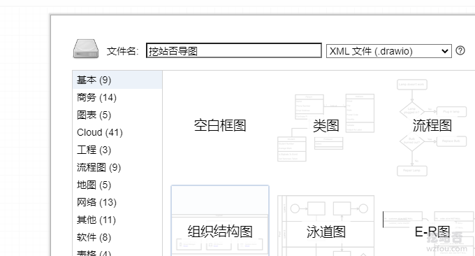 draw.io在线思维导图创建流程图
