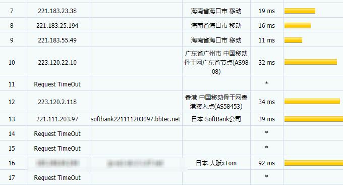 经典VPS主机日本软银SoftBank香港移动线路