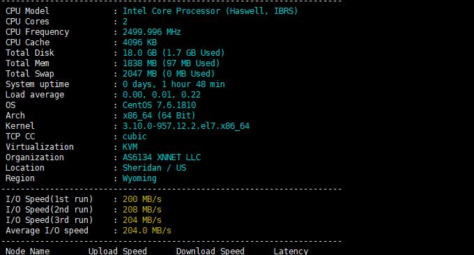 LOCVPS韩国VPS主机磁盘性能