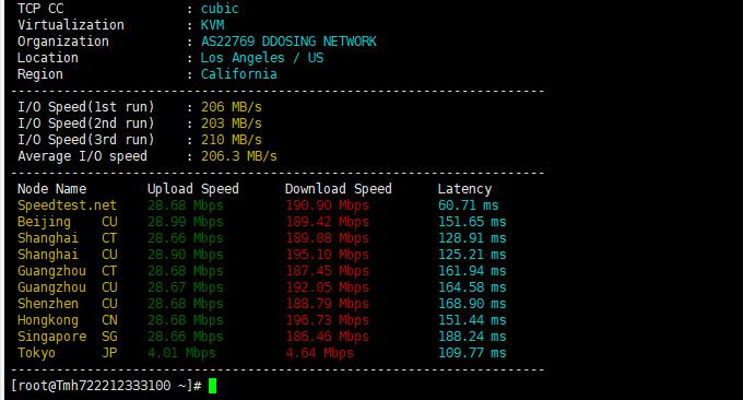 TMHhost速度测试