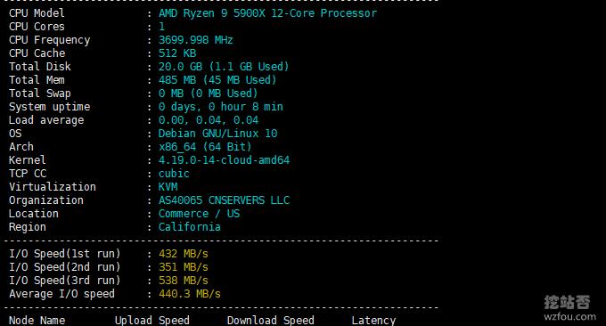 idc.wiki微基主机联通VPS主机性能