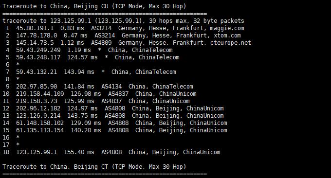 LOCVPS欧洲德国CN2线路VPS联通回程