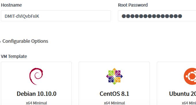 DMIT.io VPS选择操作系统