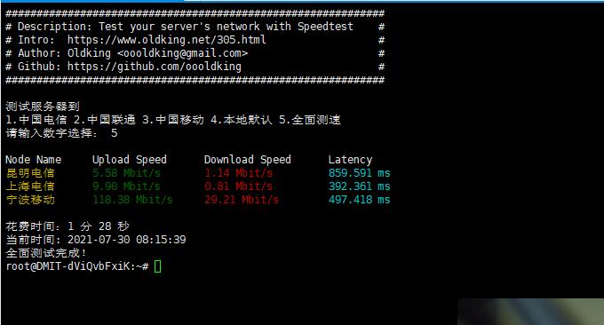 DMIT.io 日本VPS国内连接速度
