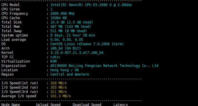 Cubecloud联通CU4837 VPS主机性能