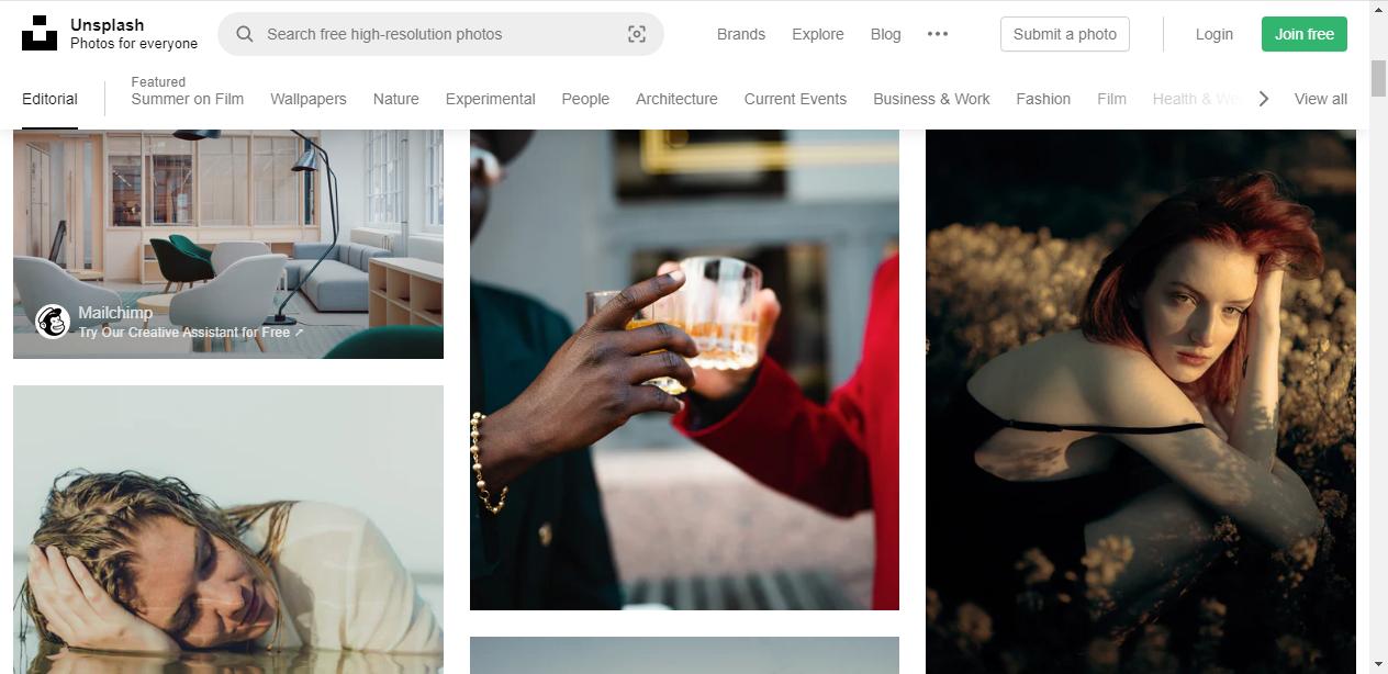 Unsplash图片网站
