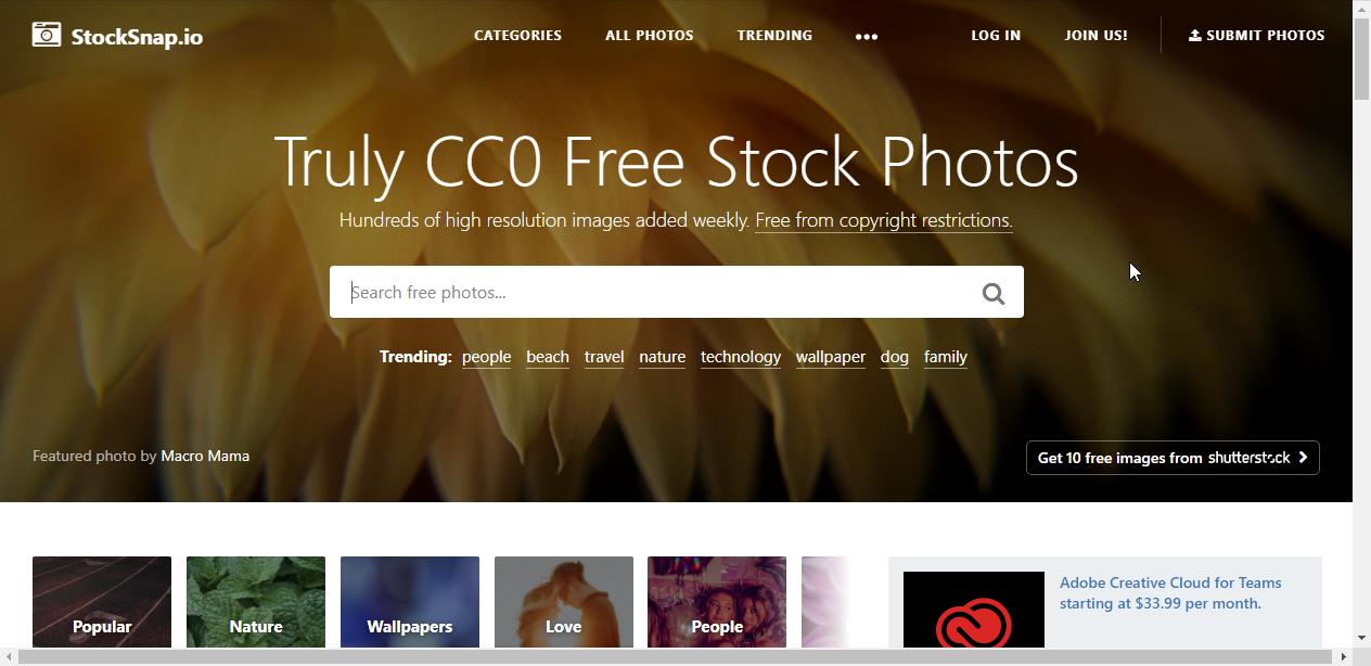 StockSnap图片网站