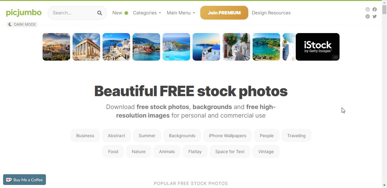 Picjumbo图片网站