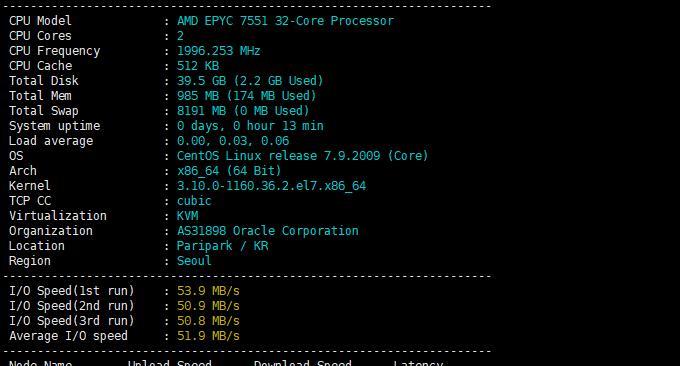 Oracle甲骨文免费云主机磁盘IO
