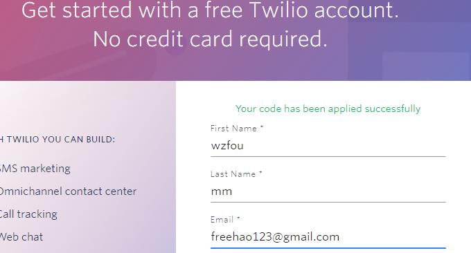 Twilio免费电话注册账号