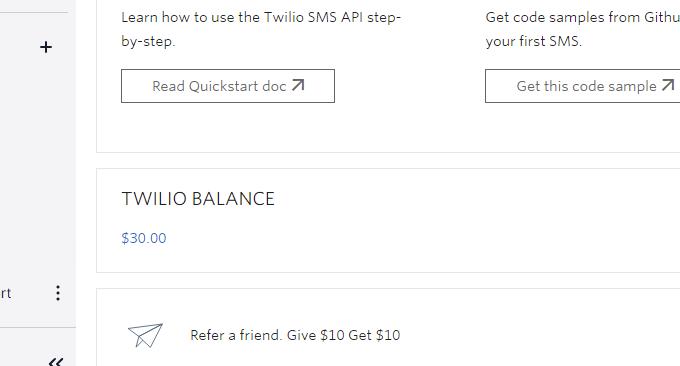Twilio免费电话查看余额